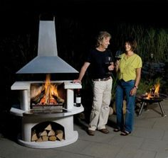 Buschbeck Malibu Outdoor Fireplaces look great in any yard http://www.mantelsdirect.com/mantel-blog/Modern-Mojo-of-an-Outdoor-Fireplace #backyard #patio #products