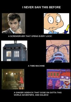 The Rugrats creators were very fond of Doctor Who. And that makes me so happy.