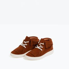 FRINGED LEATHER HIGH-TOP SNEAKERS-SHOES-GIRL | 4-14 years-COLLECTION AW16 | ZARA United States