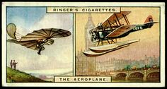 "https://flic.kr/p/dxbV7x | Cigarette Card - Past & Present, The Aeroplane | Edwards Ringer & Bigg's Cigarettes ""Past & Present"" (series of 25 issued in 1928) #1 The Aeroplane"
