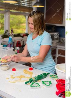 Blonde Woman Forming Cookies - Download From Over 45 Million High Quality Stock Photos, Images, Vectors. Sign up for FREE today. Image: 61819658
