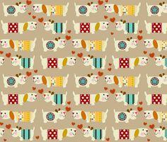 woo woo woofers fabric by scrummy on Spoonflower - custom fabric