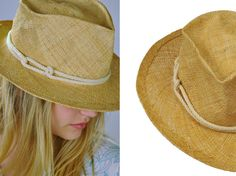 Straw hat with delicate cotton rope, panama styled. This handmade straw hat is perfect for any summer activity – beach, traveling, vacation, just
