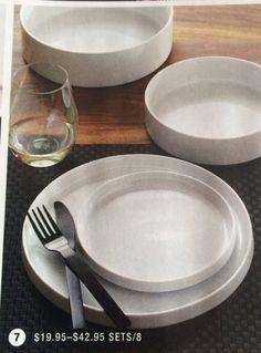 Frank dinnerware CB2