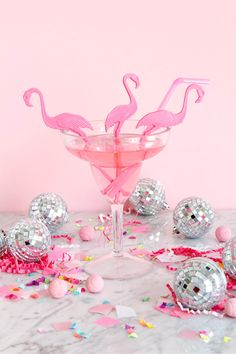 Flamingo Swizzle Sticks