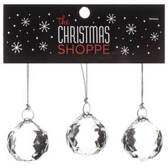 Clear Acrylic Sphere-Shaped Ornaments