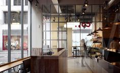 Bar serving area and entrance new style of Costa Coffee Interior Metro style