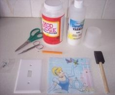 In this lens I will show you step by step how to decoupage a switch plate for your Princess room! (but it can be any design).  a great tutorial...