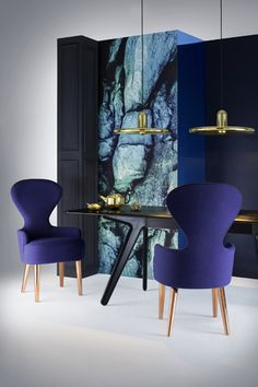 Wingback Dining Chair & Spun Pendants. Photography by Peer Lindgreen.
