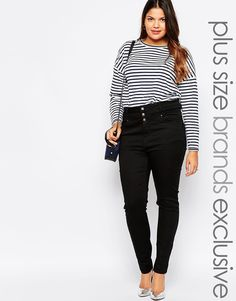 Image 1 of New Look Inspire Highwaisted Supersoft Skinny Jean