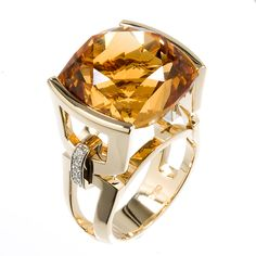 Mark Patterson Citrine, Diamonds and Yellow Gold!