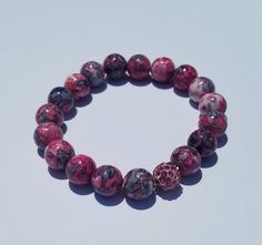 Lavender and Pink water stone are sure to delight as they flank the beauty of a single pink pave bead. *All designs can be altered using the beads of your choice. Miy'Couture is a fluid company and we will work with you to create your heart's desires. Natural Gemstones, Create Yourself, Lavender, Beaded Bracelets, Couture, Beads, Water, Pink, Jewelry