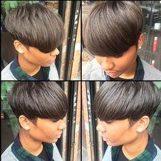 The Cut Life Dope cut 👌✂️ photo My Hairstyle, Cute Hairstyles For Short Hair, Pixie Hairstyles, Short Hair Cuts, Short Hair Styles, Love Hair, Great Hair, Cut Life, Sassy Hair