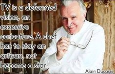 One from Mr. D. :-) (who isn't entirely camera shy) #Chefs #Quotes