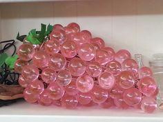 Vintage Lucite Pink Grape Cluster Swag Lighting by BibbiLousBounty, $230.00