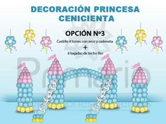 Castillo de la Princesa - Princess castle ballon decor