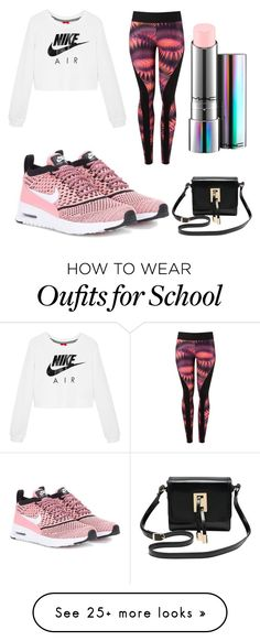 """""""School outfit #44"""" by hoodchick on Polyvore featuring NIKE, Lygia & Nanny, M&Co and MAC Cosmetics"""