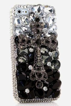 iPhone 4 bling case Black Diamond Cross Design awesome unique phone cover for teens (Cool Tech For Teens) Iphone Cases Bling, Girly Phone Cases, Diy Phone Case, Phone Covers, Iphone 8 Plus, Iphone 7, Diamond Cross, Black Diamond, Samsung Galaxy S4
