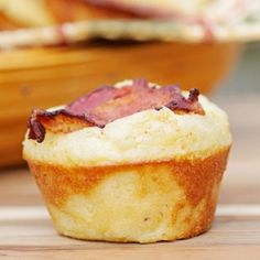Start your morning with bacon infused breakfast muffins that are a delight to the senses.