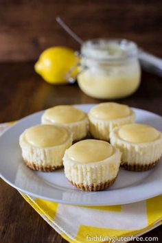 It's a good thing this gluten free Lemon White Chocolate Cheesecakes have built in portion control. But will you be able to stop after just one?