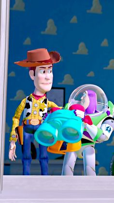"""Toy Story Buzz: """"What's going on?""""  Woody: """"Nothing that concerns you spacemen. Just us TOYS."""""""