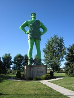 Jolly Green Giant Statue - Blue Earth, Minnesota (Sydney's half sister lived in Blue Earth MN so on a visit there we had to go to see this.)