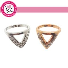 Chanel Triangle Nail Ring available in silver and gold
