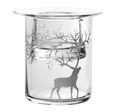 Muurla 10 cm Glass Poro Tea-Light Holder, Clear