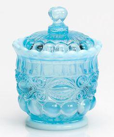 Loving this Aqua Opal Eye Winker Sugar Bowl on #zulily! #zulilyfinds