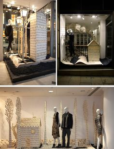 Nicole Farhi teamed up with talented paper sculptor Su Blackwell to create their magical paper creation windows.