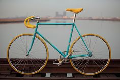 Nice colour scheme. Nice fixed gear.