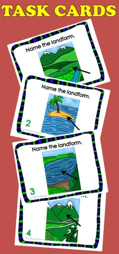 Stop by and pick this up to help you on your way back to school from Christmas vacation.  $  #landforms #taskcards