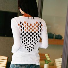 heart cut out tee - Google Search