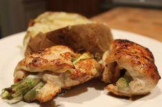 Chicken breast stuffed w/Asparagus & Cheese Recipe on Yummly