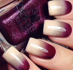 Ombre nails are very trendy now. You can achieve the desired effect by using nail polish of different colors. To help you look glamorous, we have found pictures of beautiful nails. Get Nails, Fancy Nails, Hair And Nails, Gorgeous Nails, Fabulous Nails, Pretty Nails, Perfect Nails, Diy Ongles, Nail Trends 2018