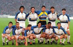 Inter to face Schalke in the first leg of the 1997 UEFA Cup final:            Salvatore Fresi, Fabio Galante, Gianluca Pagliuca, Massimo Paganin, Ciriaco Sforza; Maurizio Ganz, Beppe Bergomi, Javier Zanetti, Ivan Zamorano, Aron Winter, Alessandro Pistone.