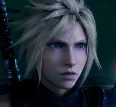 Final Fantasy Vii Remake, Cloud Strife, Blue Eyes, Aha Aha, Promised Land, Clouds, Fan Art, Video Games, Babe