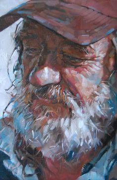 Simon DAVIS RP - Newlyn I Love the treatment of this portrait. Figure Painting, Painting & Drawing, Painting People, Watercolor Portraits, Watercolor Art, Wal Art, Posca Art, Guache, Portrait Art