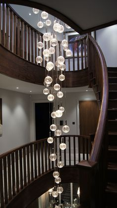 'Elements' Chandeliers – Contemporary Chandelier Company - All For Decoration Stairway Lighting, Foyer Lighting, Luxury Lighting, Custom Lighting, Interior Lighting, Lighting Design, Ceiling Lighting, Lighting Ideas, Foyer Chandelier