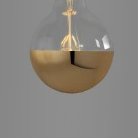 big globe led cap gold