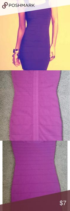 Express Plum Bandage Dress M Very cute and flattering purple/plum bandage dress by Express. Worn once for a party! Dry cleaned and ready to wear! Make an offer! XO Express Dresses Midi