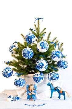 Blue and White....ornaments