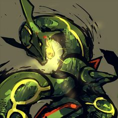 Respect the guardian of the skies! Rayquaza Pokemon, Gif Pokemon, Pokemon Pins, Pokemon Images, Pokemon Fan Art, Pokemon Pictures, Pokemon Cards, Mega Rayquaza, Pokemon 2000