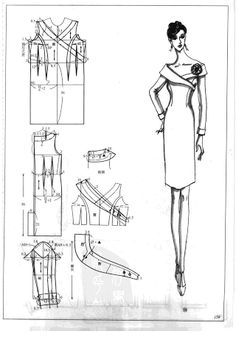 The best DIY projects & DIY ideas and tutorials: sewing, paper craft, DIY. DIY Women's Clothing : Chinese method of pattern making- Dresses, dresses,dresses ( beginning from the - SSvetLanaV - Picasa Web Albums -Read Sewing Clothes, Diy Clothes, Clothes For Women, Pattern Cutting, Pattern Making, Sewing Paterns, Patron Vintage, Dress Making Patterns, Collar Pattern