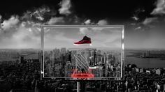 A boot so lightweight that 'it hangs in the air'. Inspired by Eames' Power of Ten we pull out from a microscopic view of the Flyknit weave to reveal the new AF-1 shoe floating in the sky above an upside down basketball hoop. Further zooming reveals that the hoop is atop one of the most famous skyscrapers in the world... the Empire State Building. This launch film was accompanied by retail windows and an instore display in which customers could experience floating up above New York.  Nike…