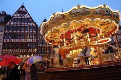 Merry Christmas Go 'Round! Christmas markets in Frankfurt, Germany, looks like fun.