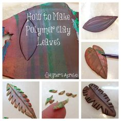 Book 2: Jungle - Polymer Clay Leaf Tutorial on KatersAcres Polymer Clay Blog