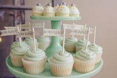 Oh Baby! cupcakes from Jenny Cookies {prettymyparty.com} #cupcakes #babyshower #parties