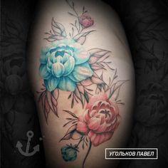 пионы выполненные в двух техниках, цветной заливкой и гравюрной графикой #арткухня #угольковпавел #ugolkovpavel #тату #tattoo #artkuhnya Tattoos, Flowers, Tatuajes, Tattoo, Royal Icing Flowers, Flower, Florals, Tattos, Floral