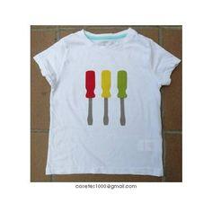 Camiseta amb tornavisos - Screwdrivers in a T-shirt - Applique